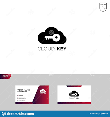 10 Free Business Cards Cloud Key Logo Template Free Business Card Stock