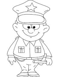Police Officer Coloring Page 29986
