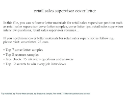 Retail Job Resumes Cover Letter For Retail Sales Sample Cover Letter For Retail Job