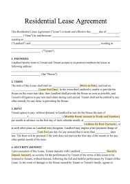 Basic Lease Agreement Free Residential Lease Template Download Rental Agreement