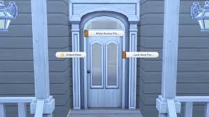 person locking door. Sims 4 Lock Door Person Locking