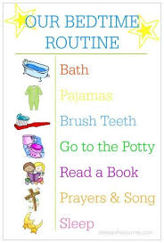 Bedtime Routine Chart Creating A Bedtime Routine Bedtime Routine Chart Toddler