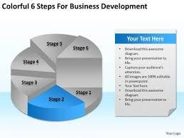 Colorful 6 Steps For Business Development Ppt Sample Plan Format
