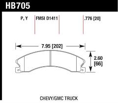Hawk Pads Chart Hawk Performance Hb705p 776 Disc Brake Pad Products
