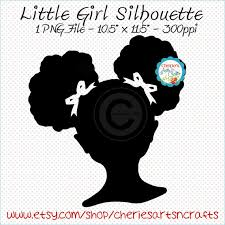 on little black girl wall art with afro puffs clip art african american girl silhouette