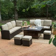 propane fire pit table set outdoor sofa