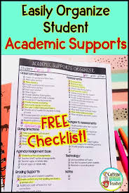 Special Education Accommodations Chart Special Education Accommodation Iep Checklist For Teachers