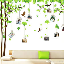 large tree wall decal large tree wall decals photo frame vine branches wall stickers birds green large tree wall decal