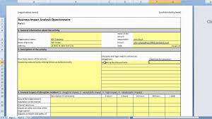 Business Analysis Templates Free Business Continuity Plan Risk Assessment Template Professional For 17