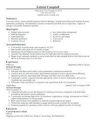 Restaurant Supervisor Resume Examples Best of Resume Samples For Restaurant Resume Pattern Is For A Restaurant