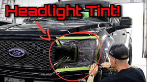 Ford F150 Light Covers Hard Tint Job 4 Shops Turned Down Ford F 150 Easiest Headlight Tail Light Tint To Use