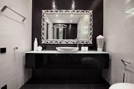 Black And White Bathroom Black White Silver Bathroom Ideas Bathrooms Cabinets