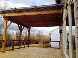 cedar deck louvered roof patio cover