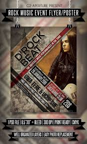 Flyer Samples For An Event Cool Rock Music Event Flyer Poster Template PSD Design Download Http