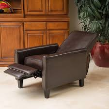 christopher knight home darvis brown modern club chair covers recliner bonded leather wooden traditional
