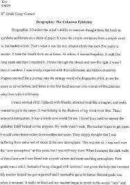 learning disabilities the reynolds clinic llc and here is his first place essay amazingly the subject is dysgraphia