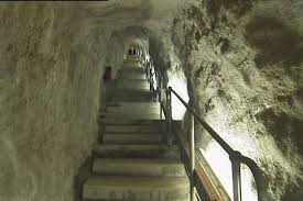 Image result for stairs inside a cave