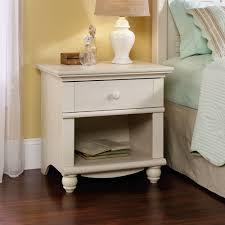 Sauder Bedroom Furniture Amazoncom Sauder Harbor View Night Stand Antiqued White Finish