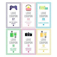 Boyfriend Coupon Book Ideas Valentines Day Free Templates For