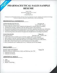 Sample Pharmaceutical Resume Pharmaceutical Sales Resume Example