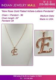 new rose gold plated initials letters pendants image 1