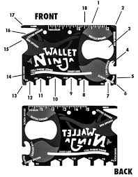 wallet size photo dimension wallet ninja 18 in 1 multi tool for your wallet