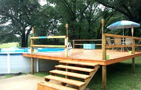 small deck around above ground pool ideas building a an designs for with regard to how above ground pool