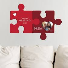 personalized you re my missing piece wall decor puzzle set personalized valentine hanging decorations