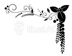 秋っぽい飾り枠黒イラスト No 881274無料イラストならイラストac