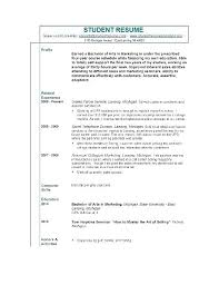 Sample Resume High School Student With No Work Experience. Sample ...
