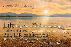good morning be happy quote