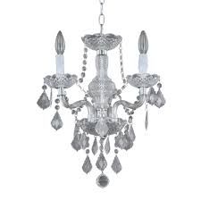 hampton bay maria theresa 3 light chrome and clear acrylic mini chandelier