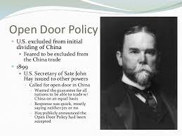 open door policy john hay. He Negotiating The Hay-Pauncefote Treaty And Promoting An \ Open Door Policy John Hay N