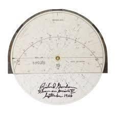 Project Gemini Flown Gemini Xi Circular Star Chart