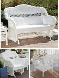 white resin wicker patio furniture set