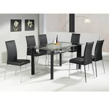 dining room table sets 6 chairs najarian enzo dining 7 piece popular of est dining room