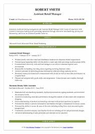 Summary For Resume Retail Retail Resume Samples Examples And Tips