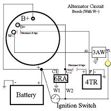 vw alternator wiring