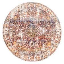 farley medallion fringe rust 5 ft round rug