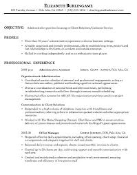 Combination Resume Sample Administrative Client Relations Hybrid