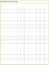 Personal Training Chart Work Training Plan Template Weekly Workout Schedule Exercise