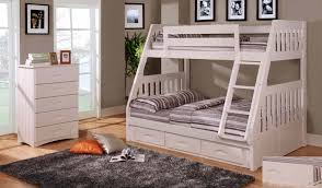Discovery World Furniture Twin over Full White Mission Bunk Bed ...