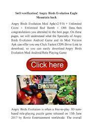 nO verification! Angry Birds Evolution Eagle Mountain hack by Angry Birds  Evolution Hack iOS 2021 [NO VERIFICATION] - issuu