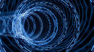Digital Tunnel Futuristic Digital Hud Hologram Tunnel