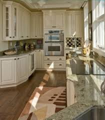 Kitchen With Wood Floors And White Cabinets Kitchen Cabinets With