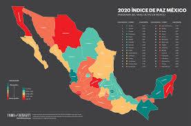 estados más y menos pacíficos mexico