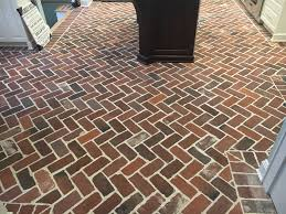 he added a few of the rough cut pavers in with this to give his floor a little more character the installer sure did a beautiful job on this floor