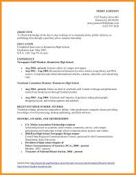 5-6 College Resume For Highschool Students | Wear2014.com