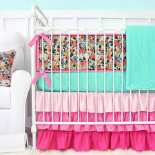 Tinsley s Pink Boho Floral Crib Bedding