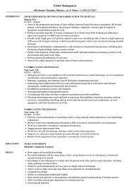 Die Setter Resume Examples Fabrication Technician Resume Samples Velvet Jobs 11